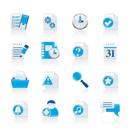 web engagement: Organizer, communication and connection icons - vector icon set