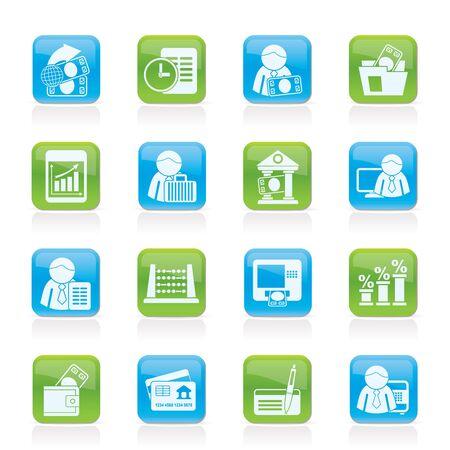 bank manager: Banco de Finanzas e iconos - Vector Set Icon Vectores