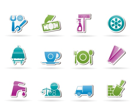 restaurant industry: Services and business icons - vector icon set