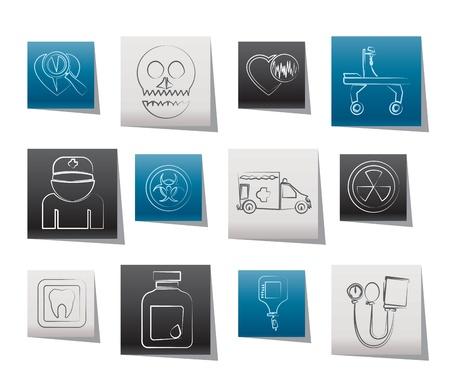 spital ger�te: Medizin und Krankenhaus-Icons - Vector Icon Set