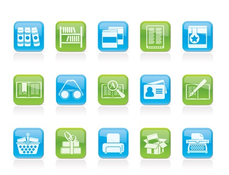 Bibliotheek en boeken Icons - vector icon set