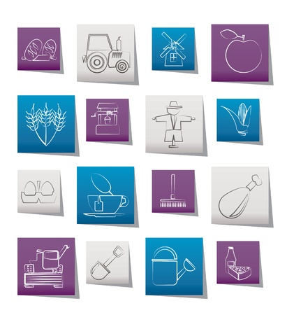 agrimotor: Agriculture and farming icons - vector icon set