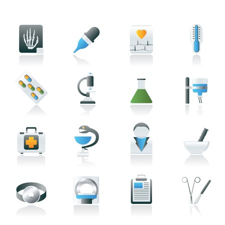 Healthcare and Medicine icons - vector icon set Stock Vector - 11497195
