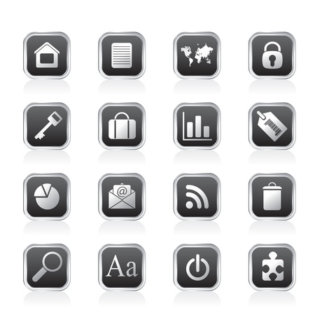 Simple Business and Internet Icons - Vector Icon Set Stock Vector - 11497215