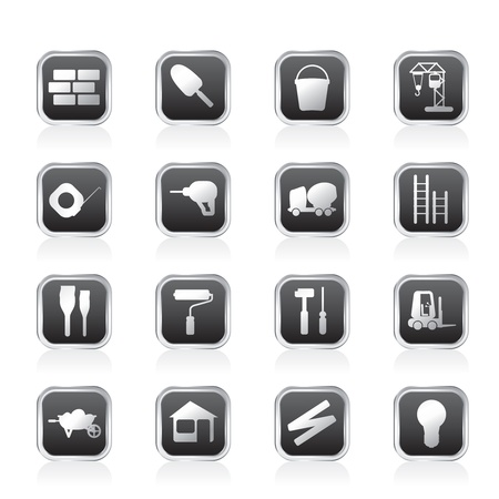 Construction and Building Icon Set. Easy To Edit Vector Image. Vector