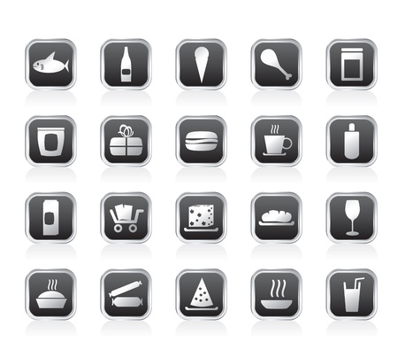 tinned: Shop and Foods Icons - Vector Icon Set Illustration