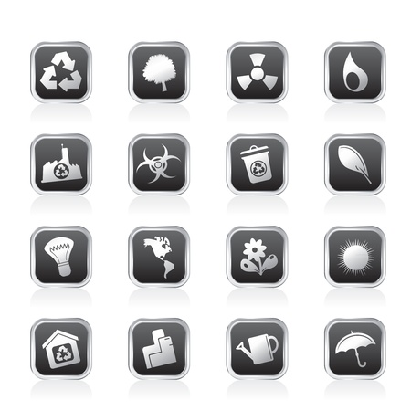 Ecology and Recycling icons - Vector Icon Set Vector