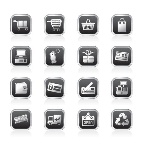 Boutique en ligne d'icônes - Icon Set Vector