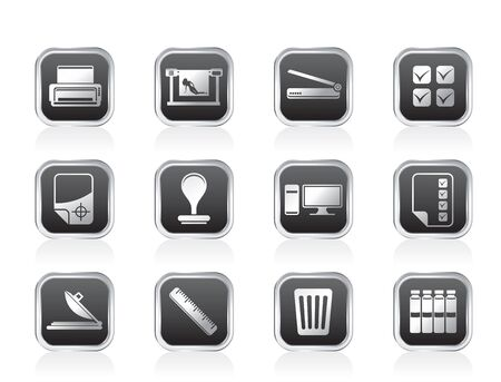 prepress: Print industry Icons - Vector icon set