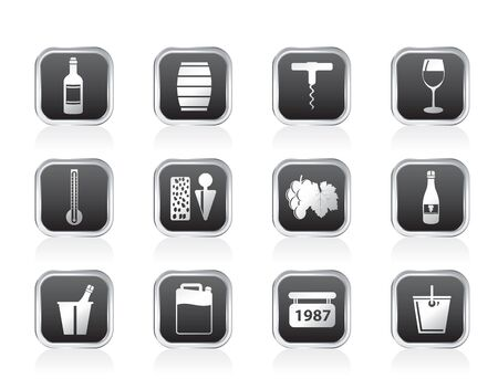 Wine and drink Icons - Vector Icon Set Vector