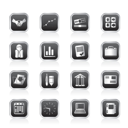 bank book: Business and Office icons - Vector Icon Set