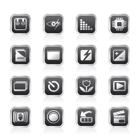 Digital Camera  Performance - Vector Icon Set Vector