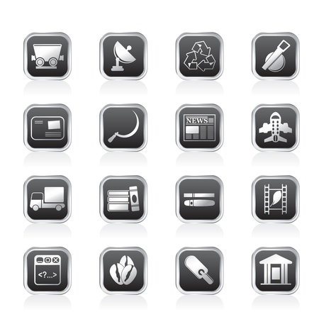Business and industry icons - Vector Icon set 2 Stock Vector - 11497225