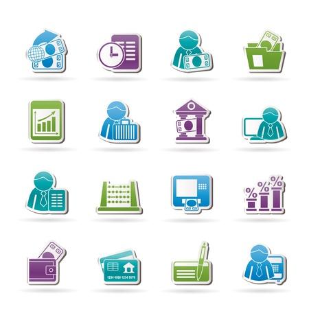 Banco de Finanzas e iconos - Vector Set Icon