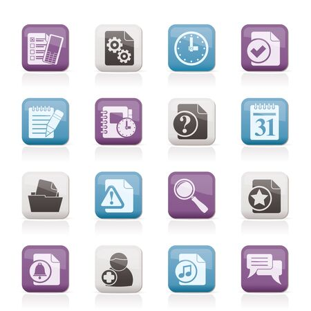 add: Organizer, communication and connection icons - vector icon set