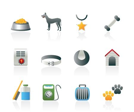 perros accesorios y símbolos de iconos - iconos conjunto de vectores