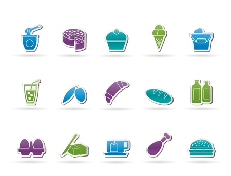 Dairy Products - Food and Drink icons - vector icon set Stock Vector - 11660127