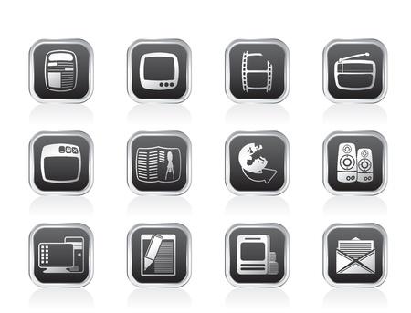 mass: Media icons - Vector Icon Set