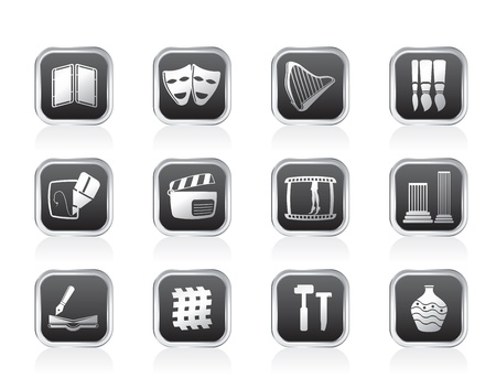 top menu: different kind of Arts Icons - Vector Icon Set