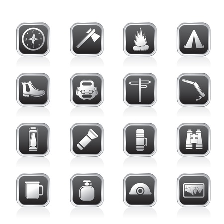 Tourism and Holiday icons - Vector Icon Set Illustration