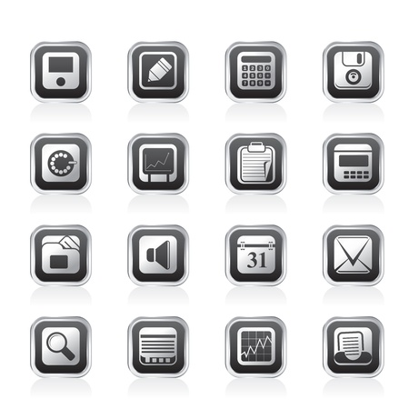 Business, Office and Finance Icons - Vector Icon Set Vector