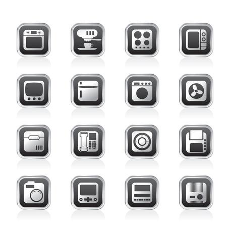 Thuis en op kantoor, apparatuur Pictogrammen - Vector Icon Set Vector Illustratie