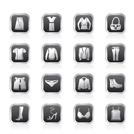 Clothing and Dress Icons - Vector Icon Set Vector