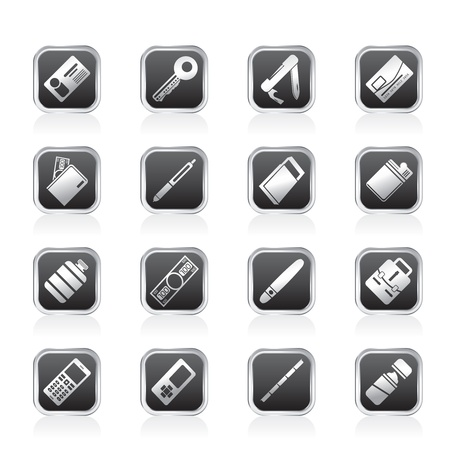 Simple Vector Object Icons - Vector Icon Set Vector