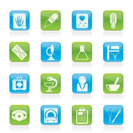 healthcare and medical: Healthcare and Medicine icons - vector icon set Illustration