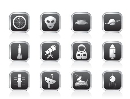 Astronautics and Space Icons - Vector Icon Set Stock Vector - 11659250