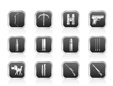 armbrust: Jagd und Waffen Icons - Vector Icon Set