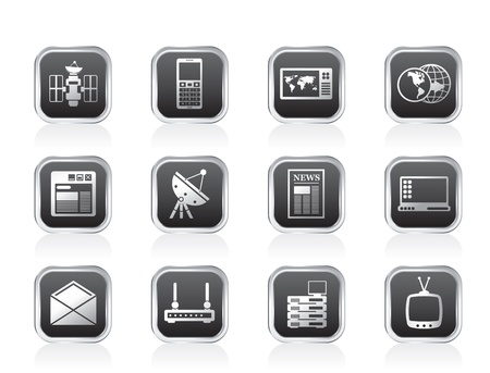 Communication and Business Icons - Vector Icon Set Vector