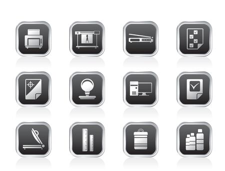 Print industry Icons - Vector icon set 2 Vector