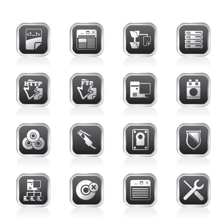 ftp: Server Side Computer icons - Vector Icon Set