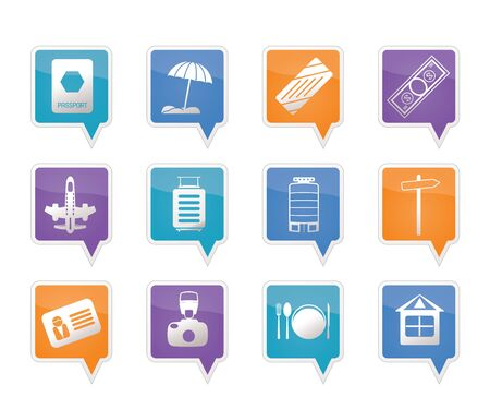 Travel, Holiday and Trip Icons -  Vector Icon Set Stock Vector - 11780271
