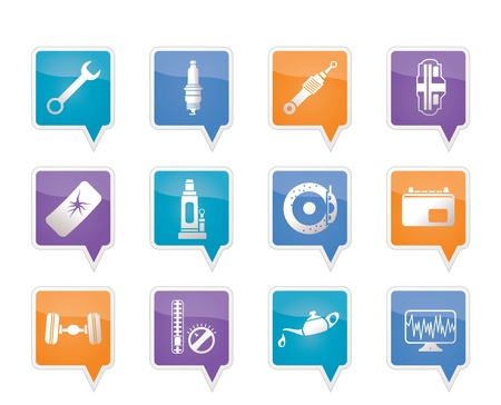 oil change: Car Parts and Services icons - Vector Icon Set 1 Illustration