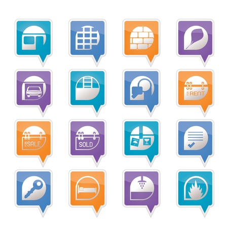 Simple Real Estate icons - Vector Icon Set Stock Vector - 11780309
