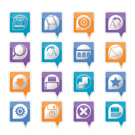 login icon: Internet and Website Icons - Vector Icon Set
