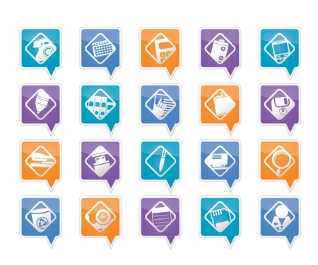 nternet: Office tools icons -  vector icon set 3 Illustration