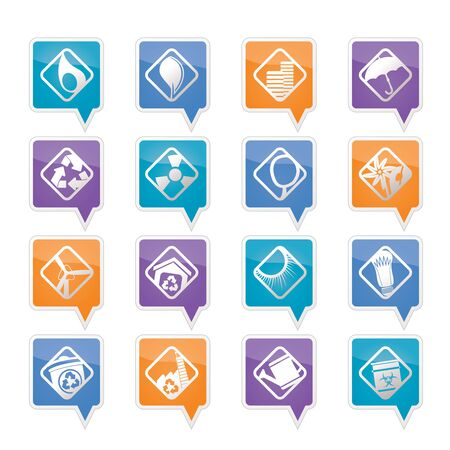 Ecology icons - Set for Web Applications - Vector Vector