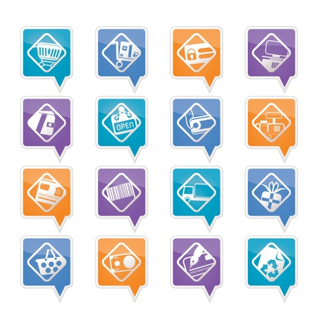 Online Shop, e-commerce and web site icons - Vector Icon Set  Vector