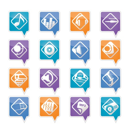 nternet: Music and sound icons -  Vector Icon Set