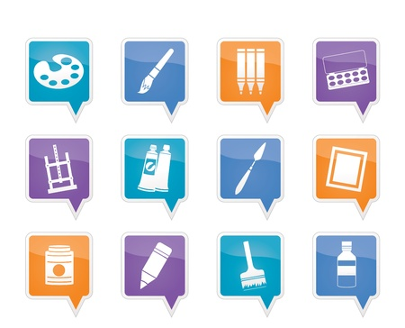 painter, drawing and painting icons Vector