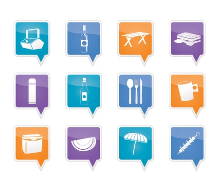 Picnic and holiday icons Vector