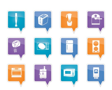 water cooler: Kitchen and home equipment icons Illustration