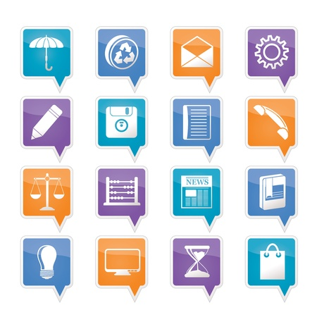 Business and Office internet Icons Stock Vector - 11883808