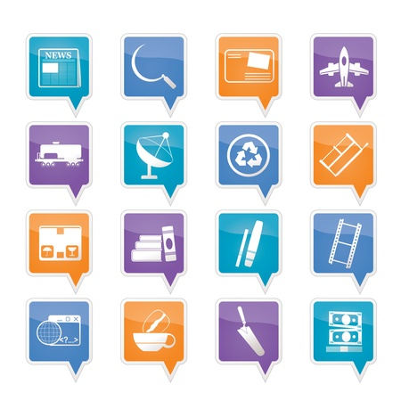 Business and industry icons Stock Vector - 11883812
