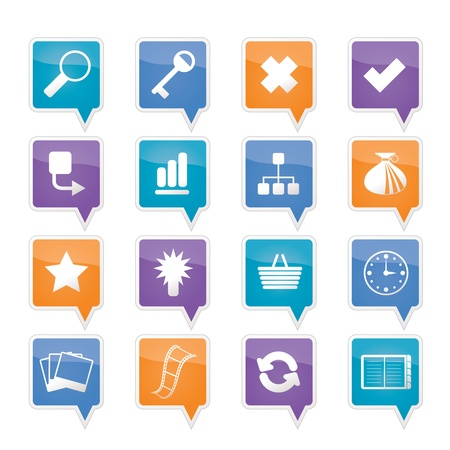 Business and office icons Stock Vector - 11883807
