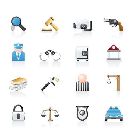 surveillance symbol: Law, Police and Crime icons