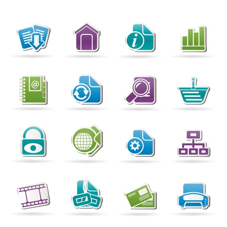 Web Site and Internet icons Stock Vector - 11883841